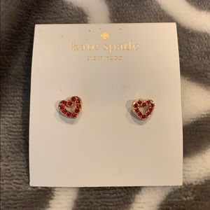 Kate Spade Red Heart Earrings New!